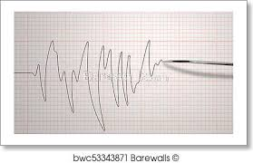 Chart Marking In Polygraph Diagram Of A Detertor Of Lie Art Print Poster