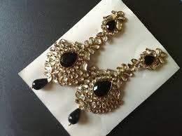 amethyst black chandelier earrings