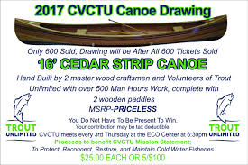 raffle sign trout unlimited canoe raffle sign jpg coosa valley chapter 519
