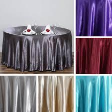 5 pcs 120 round satin tablecloths wedding party kitchen tabletop linens