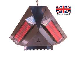 Pendant Gazebo Heater With Light 3000w 1500w 3 Sided Infra Red Pendant Gazebo Heater Leisure