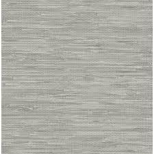 wallpops 30 75 sq ft gray vinyl grasscloth l and stick wallpaper