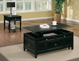 lift top coffee tables black