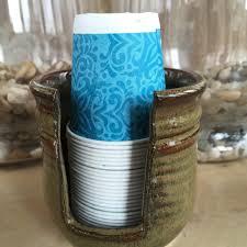 Ceramic Bathroom Cup Holder Disposable Cup Dispenser Paper Cup ...