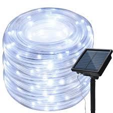 Solar Rope Lights For Garden Amazon Com Wonfast Solar Rope Lights Outdoor Waterproof