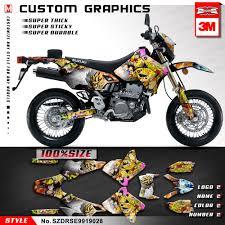 Thailand Sticker Design For Motorcycle Us 125 9 10 Off Kungfu Graphics Stickers Design Motorcycle Decals Kit For Suzuki Drz400sm Drz 400 Sm Drz400e 1999 2019 Style No Szdrse9919028 In