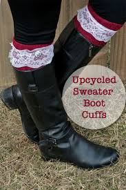 make boot cuffs from an old sweater