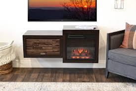 retro mid century electric fireplace ideas