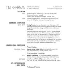 Tim Sherman Resume