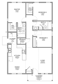 Small 3 Bedroom Cabin Plans Floor Plan For A Small House 1150 Sf With 3 Bedrooms And 2 Baths