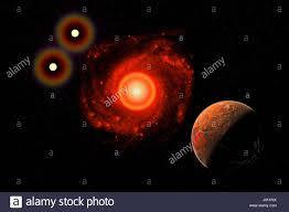 Exoplaneta Proxima Centauri B , en órbita alrededor de la estrella enana  roja Proxima Centauri , parte de la Alpha Centauri sistema binario  Fotografía de stock - Alamy