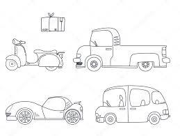 Verzameling Van Cute Auto Kleurplaten Pagina Afbeelding Voor