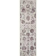 kenmare gray purple 2ft 2in x 7ft 2in indoor runner rug