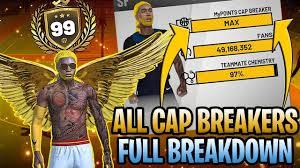 All Cap Breakers For All Archetypes Full Breakdown Nba 2k19 News Update