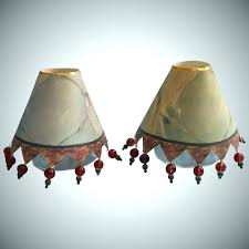 mini chandelier shade shades with beads stretch bell sand silk ruffles and