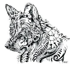 Wolves Coloring Pages Easy Wolf Coloring Pages Wolf Mandala Coloring