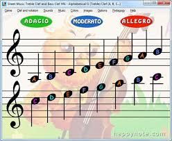 Treble Clef Music Sheet Read Music Notes With Sheet Music Treble Clef And Bass Clef Hn