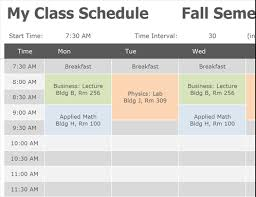 block schedule maker class schedule office templates