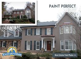 house with painted brick before and after pictures