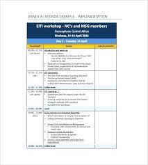 Workshop Agenda Template Microsoft Word Internal Training Free