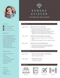 Brown and Turquoise Modern Resume