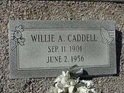 Willie Albert Caddell (1901-1956) - Find A Grave Memorial