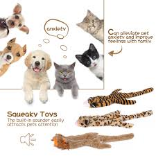 squeaky toys for dogs value 3 pack set of dog chew toy for teething chewing and playtime durable puppy squeaky dog toys stuffed plush dog