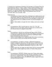 theodore roosevelt study resources 1 page history 2112 essay review