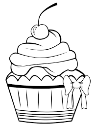 Cupcakes Coloring Pages Cupcake