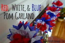 diy red white blue garlands