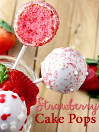 Strawberry Cake Pops Recipe Where The Foodies Eat Strawberry