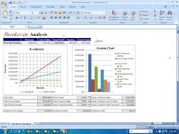 Break Even Analysis On Excel Break Even Analysis Template 8