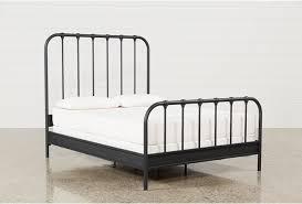 Knox California King Metal Panel Bed | Living Spaces