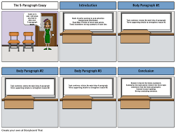 paragraph essay writing storyboard by lstafford
