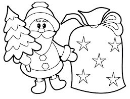 Coloring Pages For Kids Printable Santa Adults Christmas Childrens ...