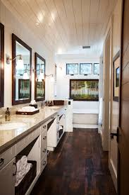 hardwood floors in bathrooms. Sumptuous Dark Hardwood Floors Look San Francisco Rustic Bathroom Inspiration With Antique Fixtures Barnwood Siding Beams Cabinets In Bathrooms