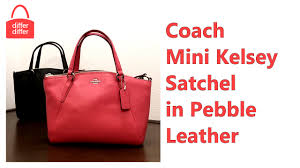 Coach Mini Kelsey Satchel in Pebble Leather 57563