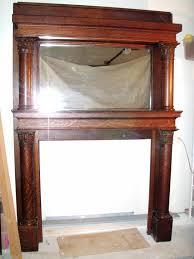 antique quartersawn oak fireplace mantle