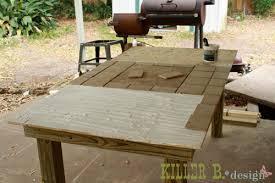 outdoor tile table tutorial Pinteres