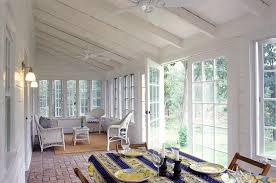 innovative vinyl tablecloths in sunroom farmhouse with sun room next to three season room alongside sunroom flooring