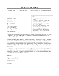 Construction Cover Letter Examples For Resume Resume For Your