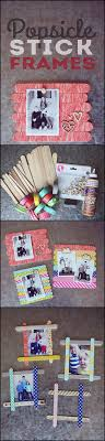 diy popsicle stick picture frame tutorial