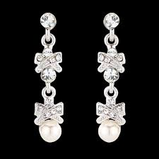 long bridal chandelier earrings chandelier wedding earrings crystal and pearl earrings vintage style jewelry crystal earrings