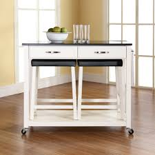 Sandra Lee Granite Top Kitchen Cart White Kitchen Island Cart Granite Top Best Kitchen Island 2017