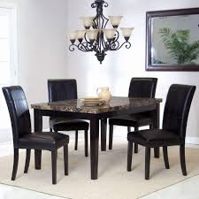 decorating eight24hours 5 piece glass dining table set 4 leather to her with decorating marvelous