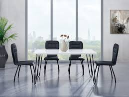 D1661 Dining Room Set w/ Black Chairs
