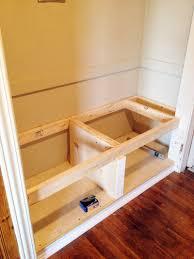 diy closet bench decor and front storage