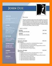 Word 2007 Resume Templates Interesting Cv Format In Ms Word 48 Free Downloadcv Format Ms Word 48