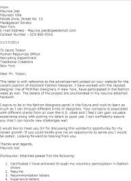 Cover Letter For Fashion Internship Sample Cover Letter For