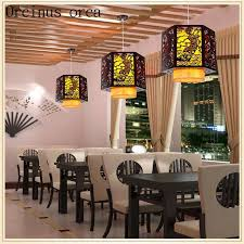chinese style antique sheepskin chandelier restaurant bar restaurant aisle solid wood chandelier free